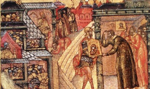 Икона Казанской Богоматери и 5 русских царей