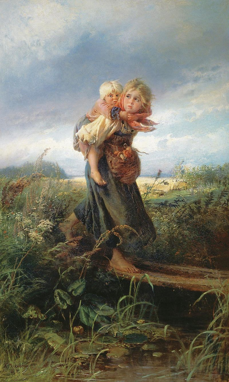 Konstantin_Makovsky_-_Children_running_from_a_thunderstorm_-_1872
