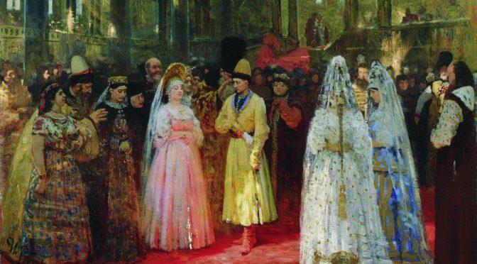 Каких цветов были свадебные платья у русских невест