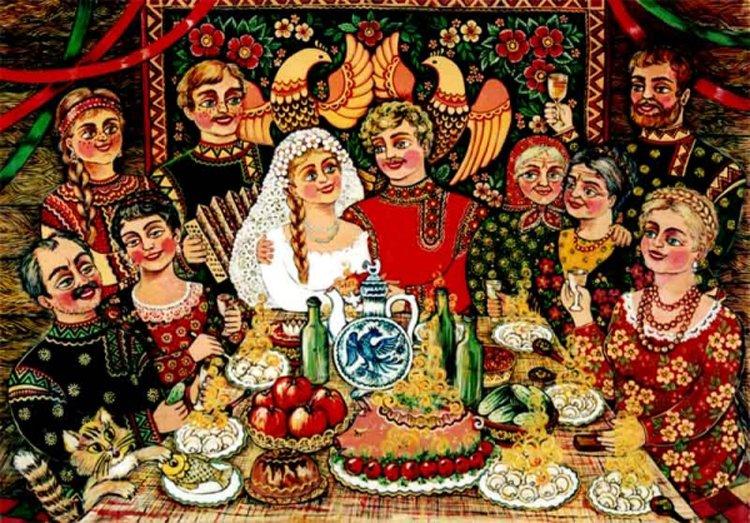 Картинки русская свадьба
