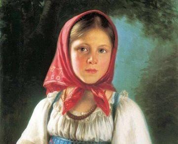 Женские русские платки на голову