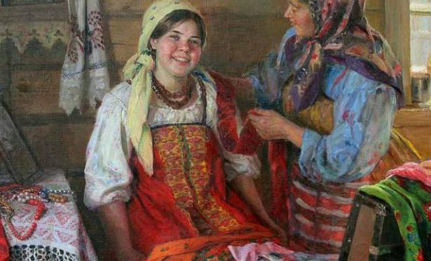 1f5be70520f0 Кириллица | Внакидку, по-купечески: как женщины на Руси повязывали ...