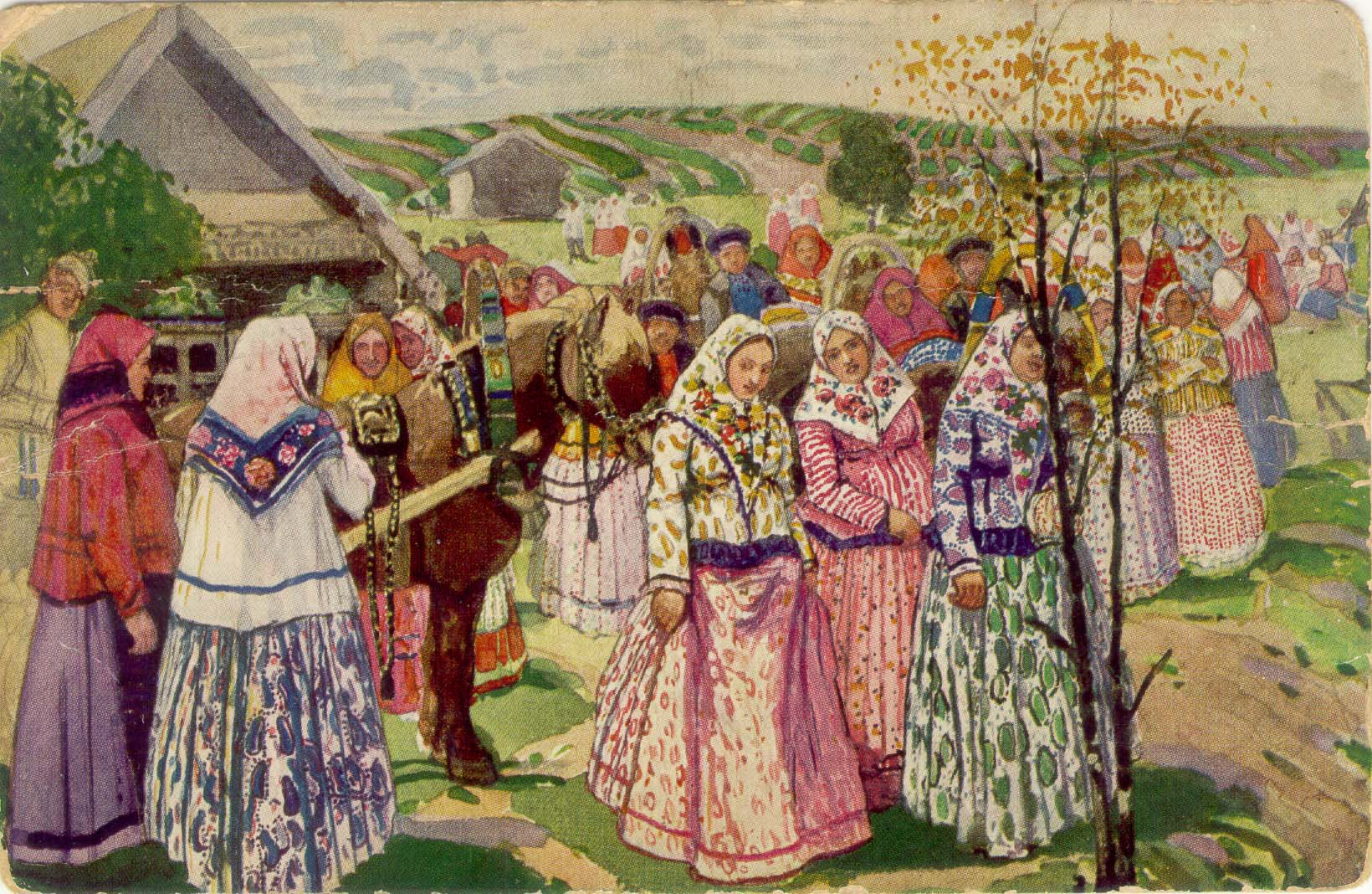 Весенний праздник в старину на руси фото