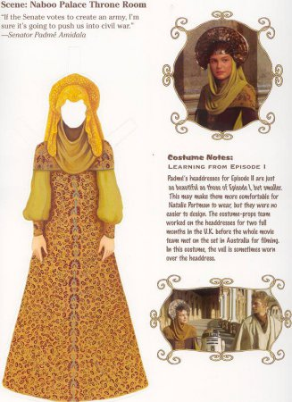 Костюм принцессы Падме-Амидалы (актриса Натали Портман), правительницы планеты Набу из голливудского блокбастера «Звездные войны»