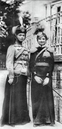 The Princesses in military uniform