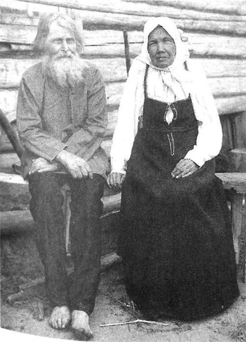 Старик и старуха. Рязанская губ., Касимовский у. 1910