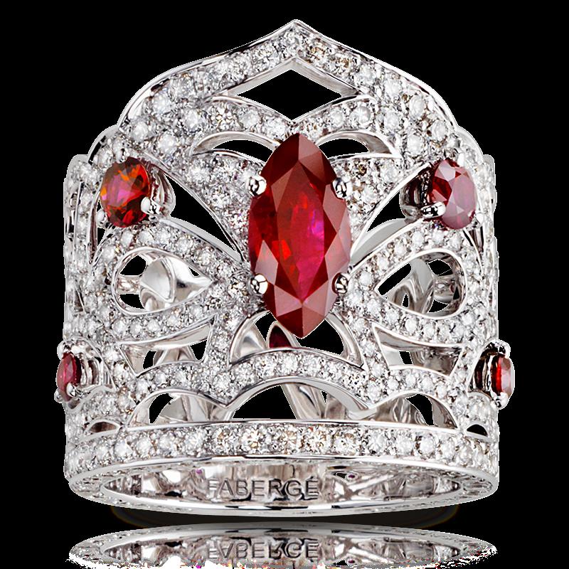 Кольцо KOKOSHNIK. бриллианты, рубины
