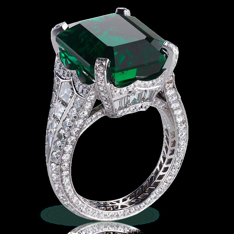 Кольцо SOLYANKA EMERALD. изумруд, бриллианты