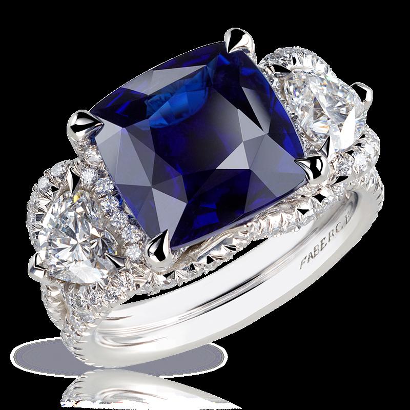 кольцо SOLYANKA. бирманский сапфир, алмазы