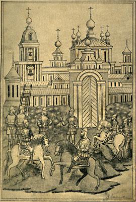 Воинство обступило стены монастырские