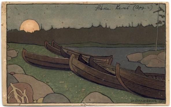 Река Кемь, Архангельской губернии И.Билибин 1904г