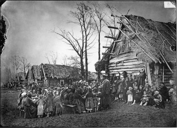Народная столовая в деревне Пралевке Лукояновского уезда