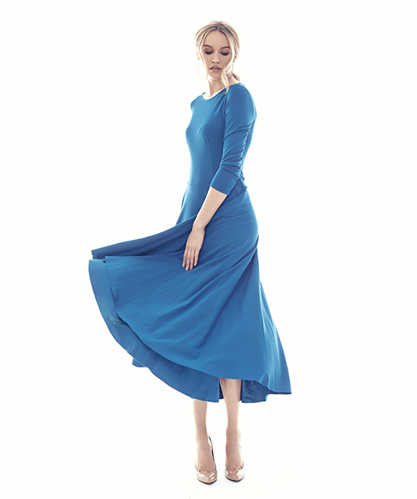 9A синее платье