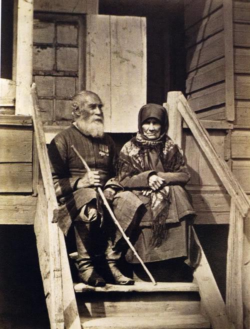 29 Донской казак 73-х лет с женой. 1875-1876