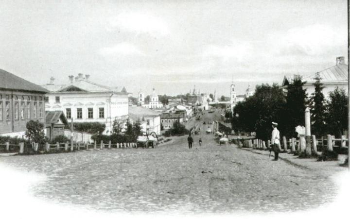 Московская улица. Вид от почтово-телеграфной конторы.