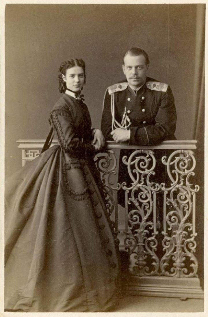 Великий князь Александр Александрович и великая княгиня Мария Федоровна.  Конец 1860-х
