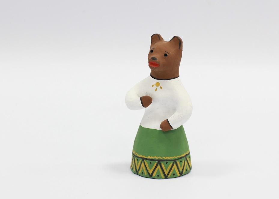 Медведица в сарафане. Каргопольская игрушка