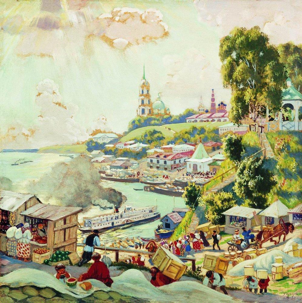 На Волге, 1910 год