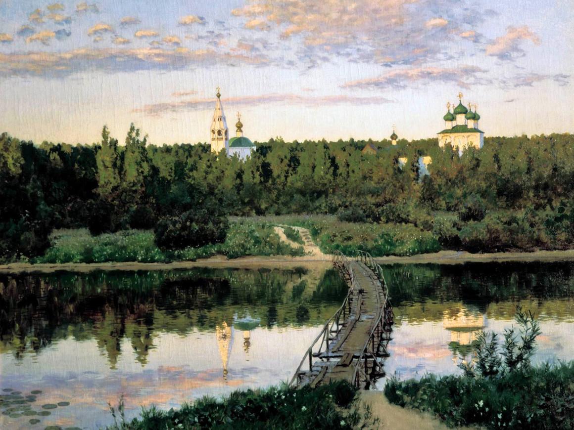Исаак Левитан . «Тихая обитель», 1891 год